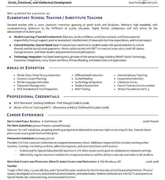 Best Teacher Resumes - cv01.billybullock.us