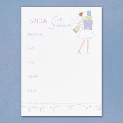 Blank Bridal Shower Invitations Templates - Redwolfblog.Com