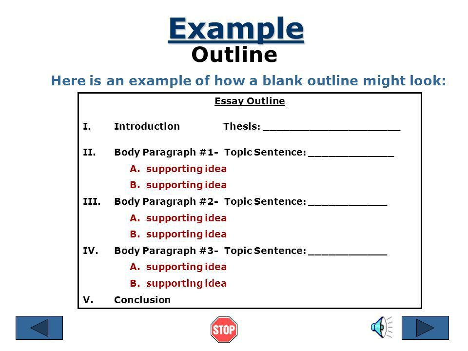 A Plan That Builds an Essay - ppt download