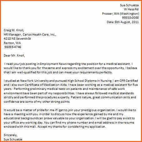 10+ medical assistant cover letter examples - Budget Template Letter