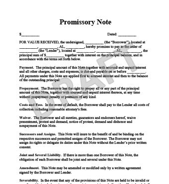 Top 5 Free Samples Of Promissory Note Templates - Word Templates ...