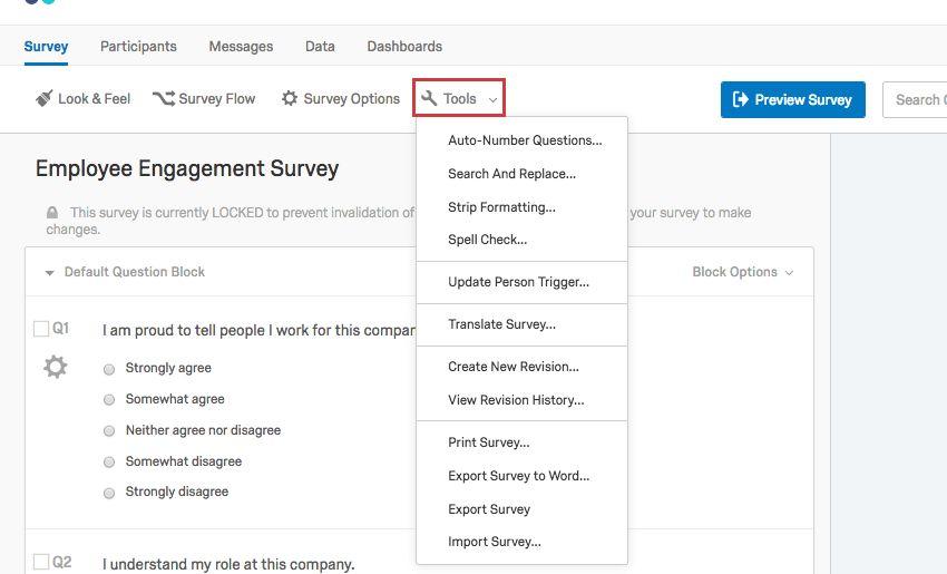 Survey Tools (EE) - Qualtrics Support