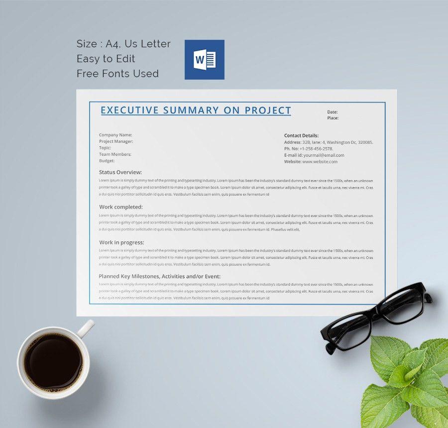 31+ Executive Summary Templates - Free Sample, Example Format ...