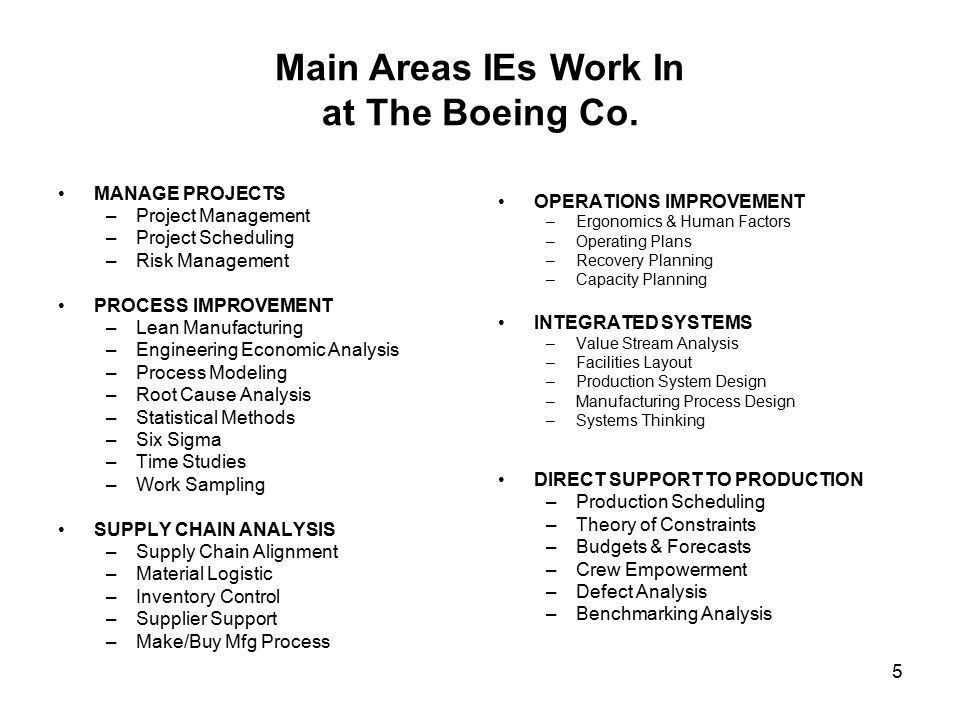 IE Job Description Steve Snelling Industrial Engineer/Process ...
