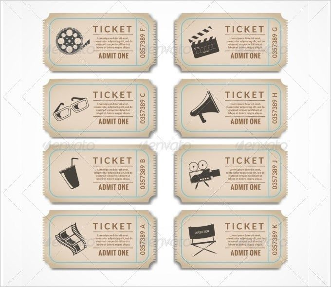 8+ Movie Ticket Templates - Free Word, EPS, PSD Formats Download ...