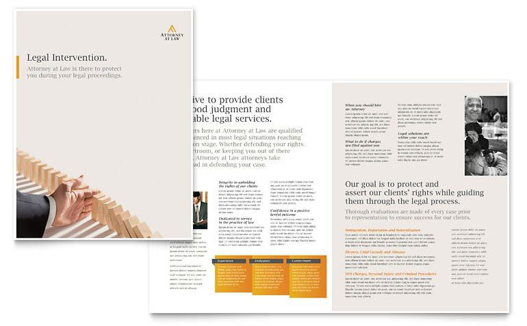 Legal Advocacy Brochure Template - Word & Publisher