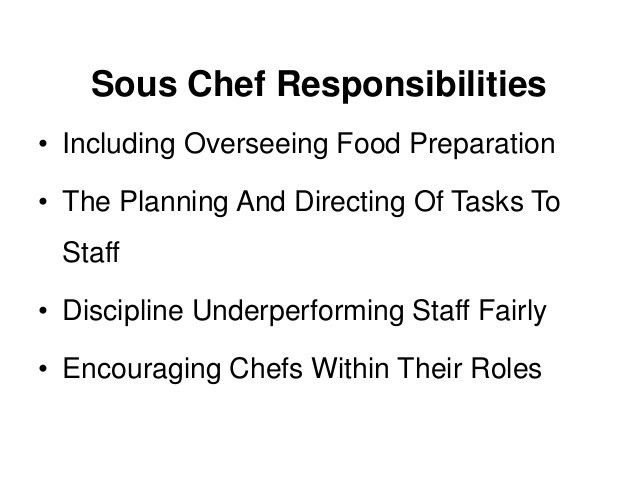 What Is A Sous Chef? A Job Description And Definition.
