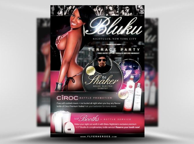 Bluku Nightclub Flyer Template - FlyerHeroes