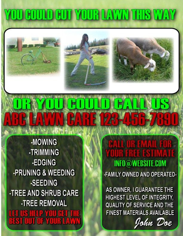 9 Best Images of Lawn Maintenance Flyers - Lawn Care Flyer ...