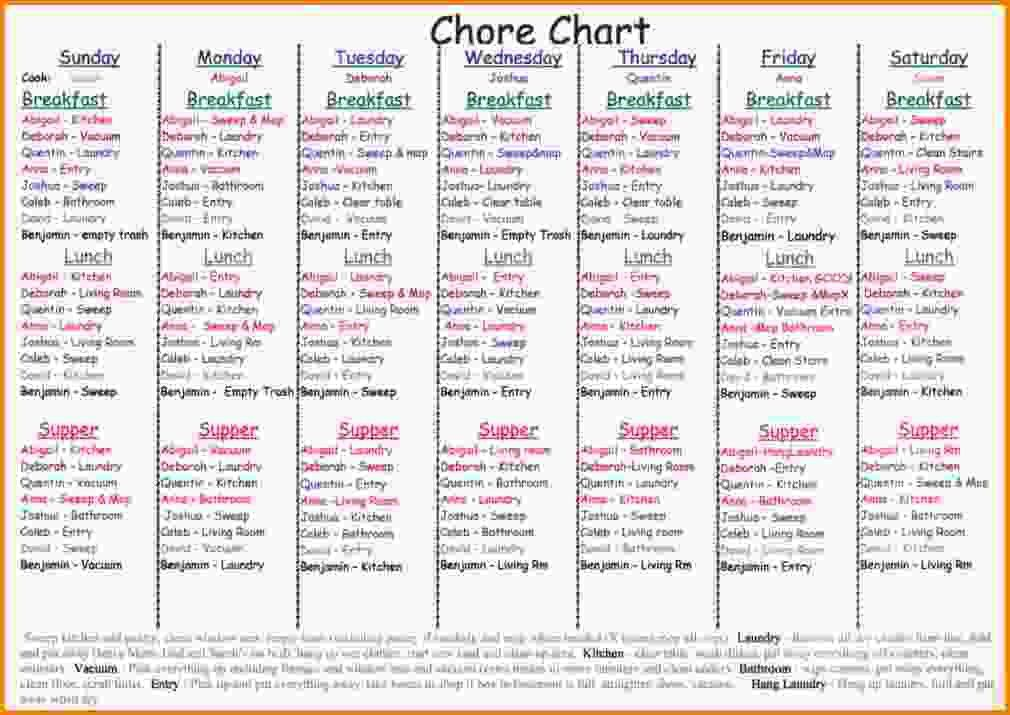 Chore Chart For Adults.chore Chart.jpg - Letter Template Word