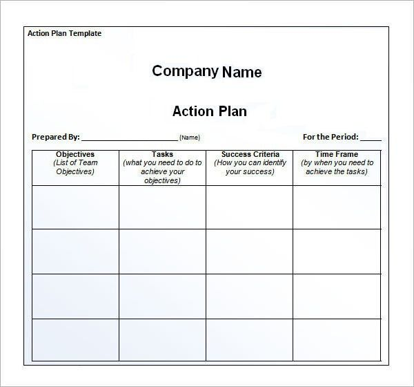 Free Download Simple Action Plan Template Example for Business ...