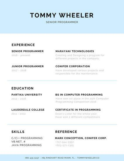 how a programmer reads your resume with junior programmer resume ...