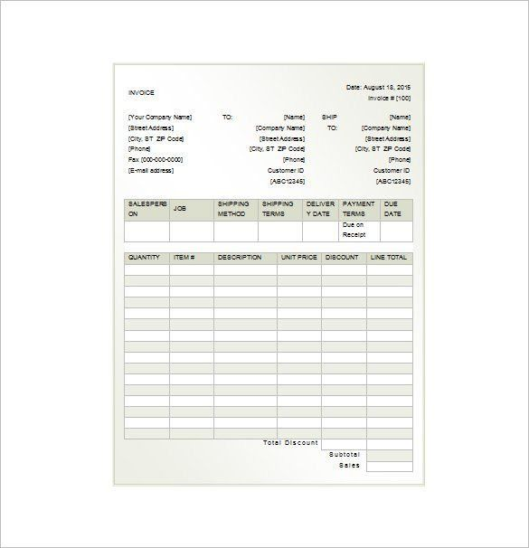 Invoice Receipt Template - 8+ Free Sample, Example, Format ...