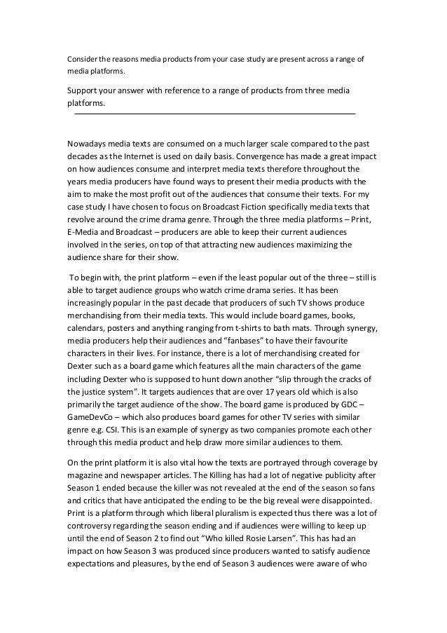 AS Media Studies - Case Study Example