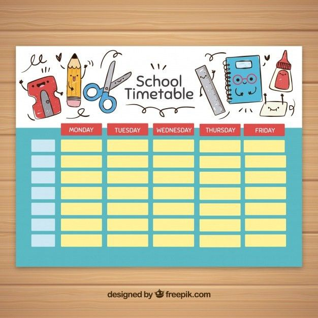 School Timetable Vectors, Photos and PSD files | Free Download