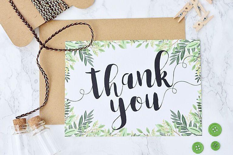 17 Gorgeous Free, Printable Wedding Thank You Cards