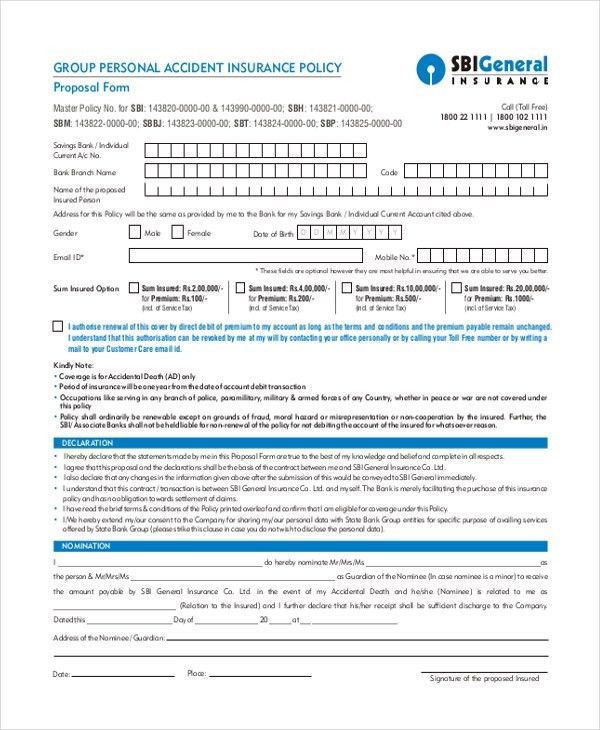 Sample Proposal Forms - 19+ Free Documents in Word, PDF