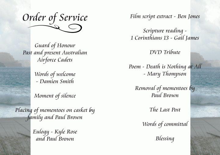 7 Funeral Order Of Service TemplateAgenda Template Sample | Agenda ...