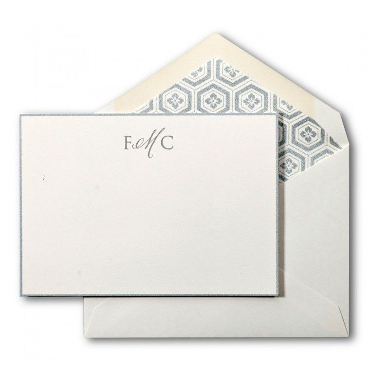 Create your own: Large Social Collection Note Card Set in Silver ...