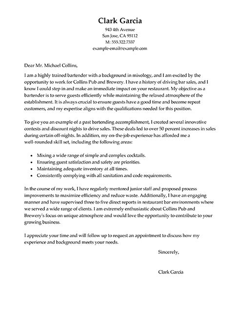 Cover Letters Examples and Tips inside Cover Letter Examples For A ...