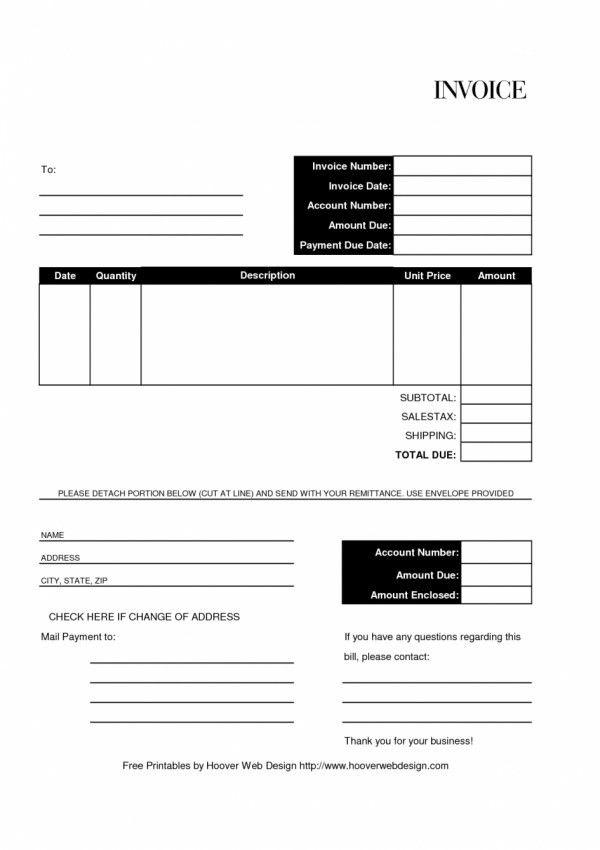 Printable Billing Invoice - cv01.billybullock.us