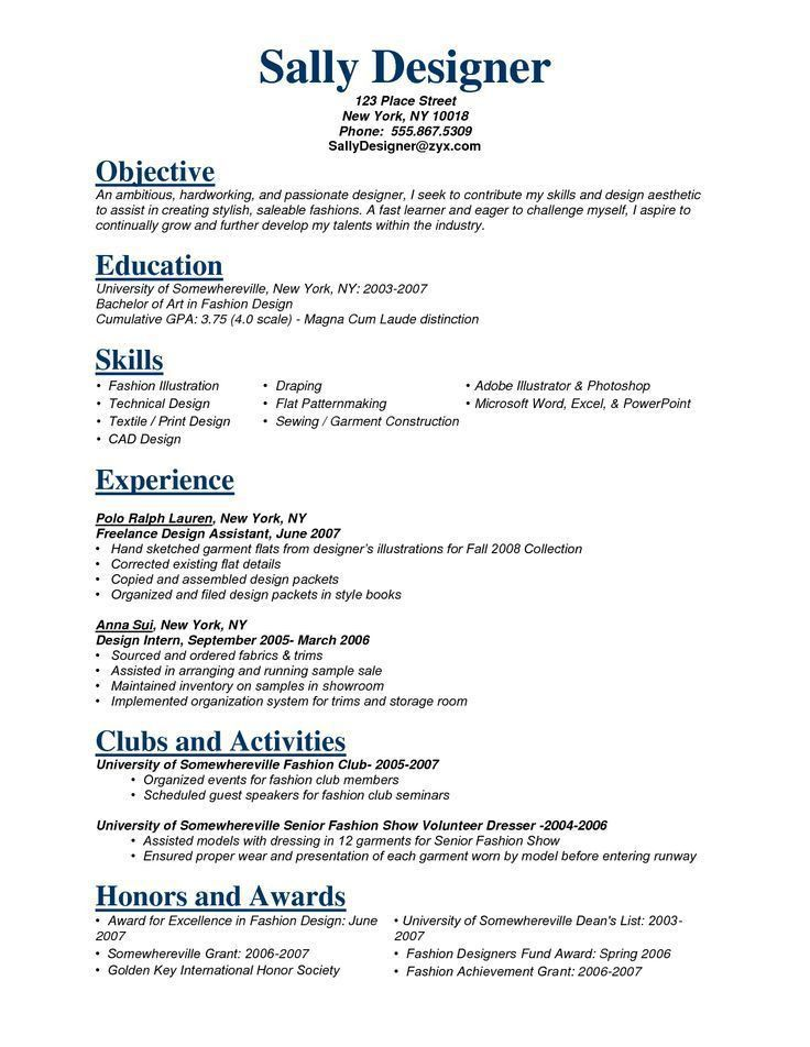 Resume objectives for government jobs