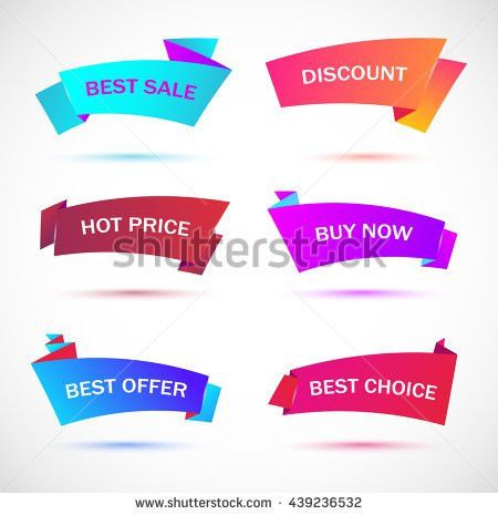 Vector Stickers Price Tag Banner Label Stock Vector 411489448 ...