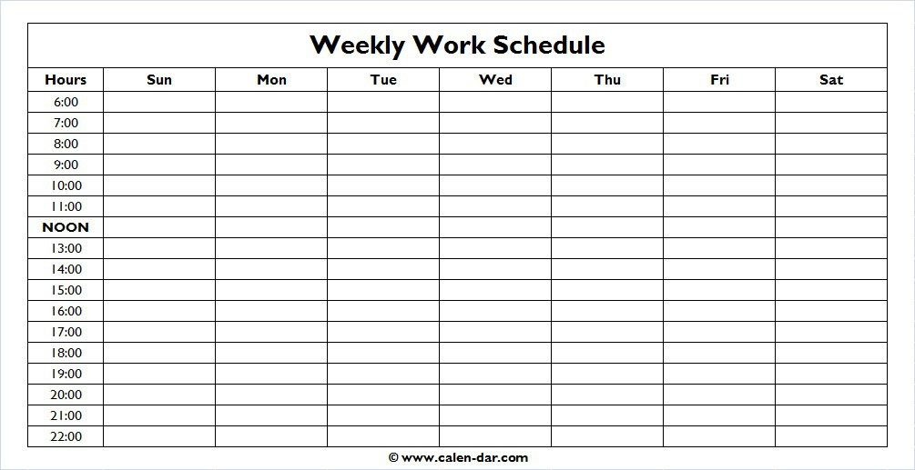 One week planner template 10 weekly planner templates word excel weekly schedule template monday friday with times one week planner pronofoot35fo Image collections