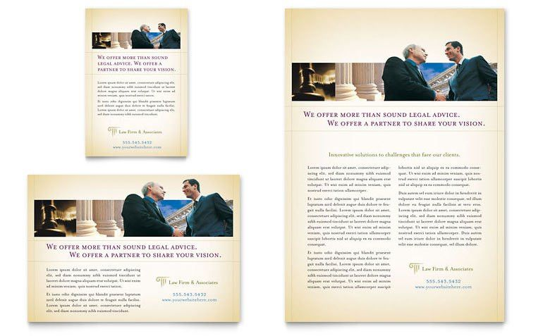 Attorney & Legal Services Flyer & Ad Template - Word & Publisher