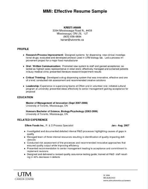Innovation Idea How To Write An Effective Resume 14 Use These ...