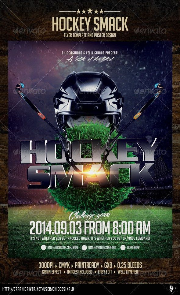 Hockey Smack Flyer Template by chiccosinalo | GraphicRiver