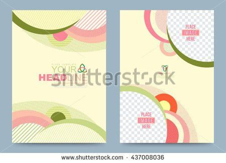 Cover Design Template Lines Circle Style Stock Vector 437008036 ...