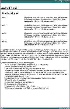 15 Report Templates - Excel PDF Formats