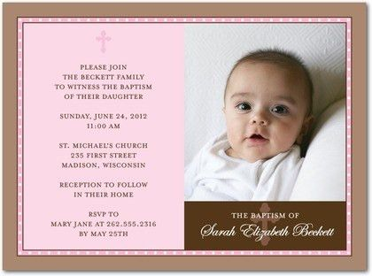 Invitations For Baptism | badbrya.com