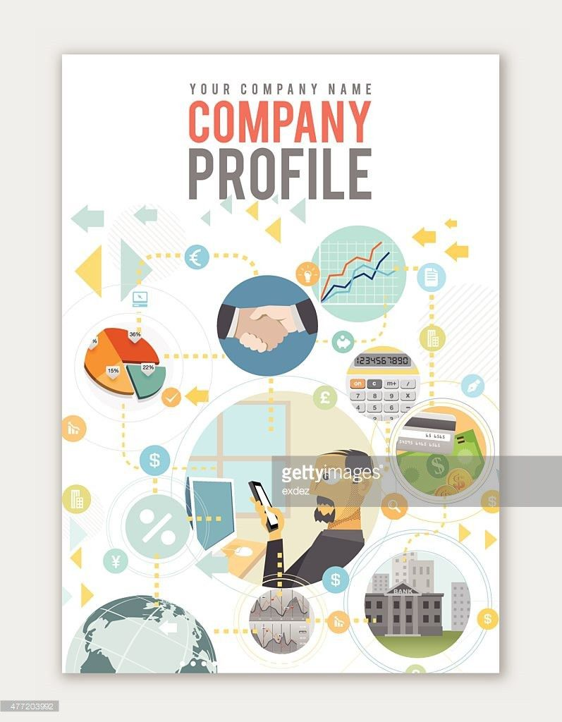 Business Profile Template Vector Art | Getty Images