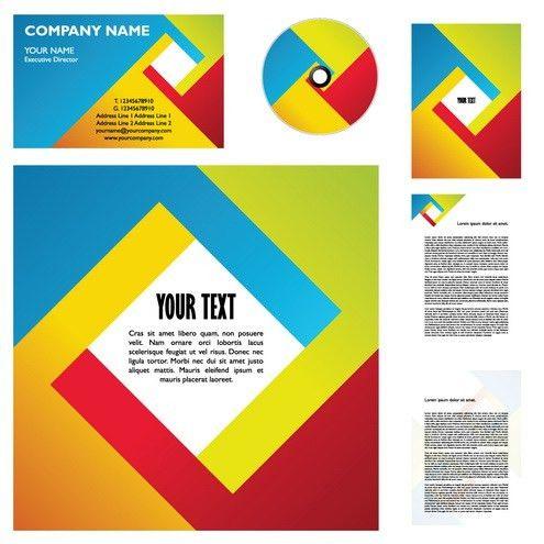 Fourcolor Business Template Vector   DragonArtz Designs