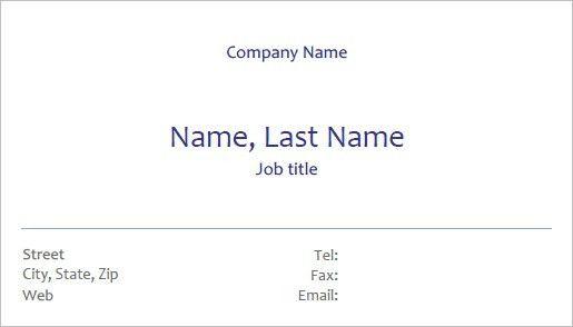 Printable Business Card Template   shareitdownloadpc
