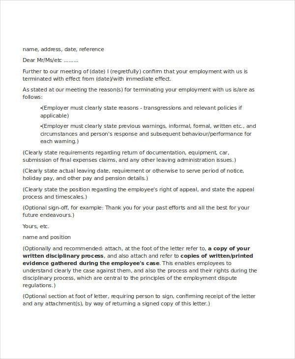 Employee Letter Templates - 7+ Free Sample, Example Format ...