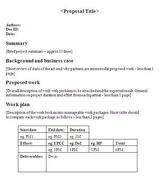 One Page Proposal Template | Best & Professional Templates