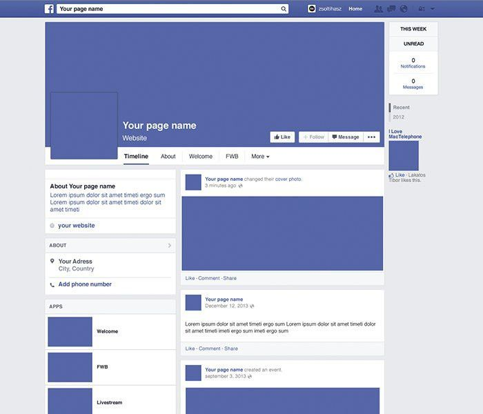 6 Best Images of Facebook Page Layout Template - Facebook Timeline ...