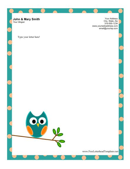 Owl Letterhead