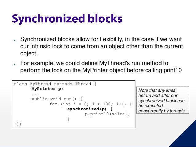Java Thread Synchronization