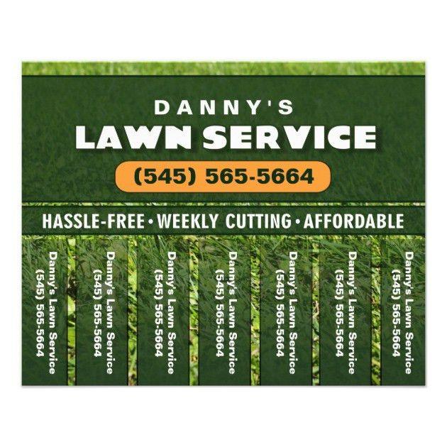 Lawn Care 5.6 x 4.5 Tear Off Business Flyer | Zazzle.com