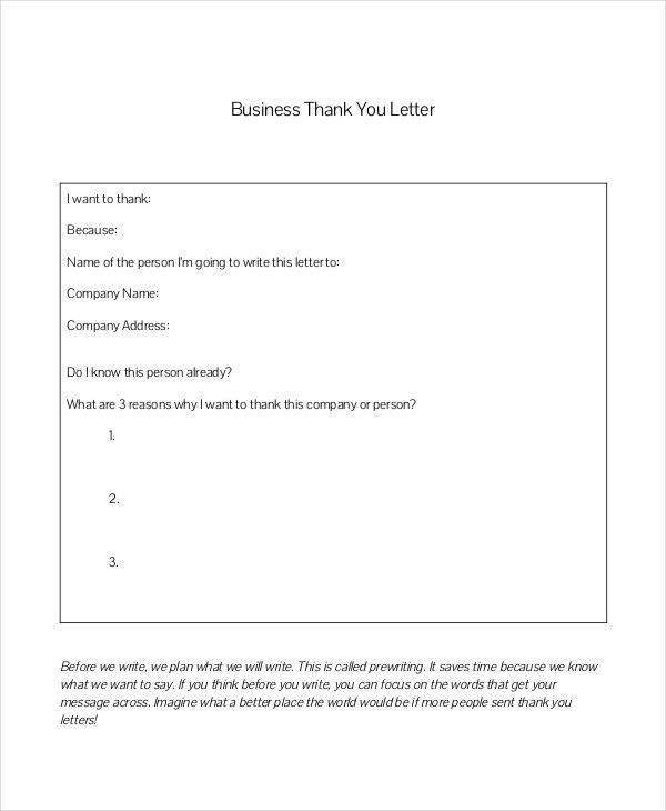of business thank you letter template business thank you letter ...