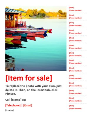 For sale flyer - Office Templates