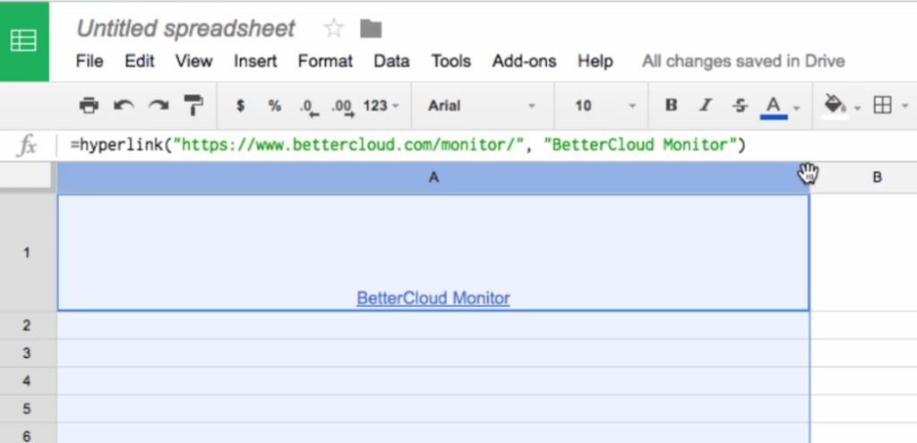 Extract URLs or Link Text from a Google Sheets Cell - BetterCloud ...