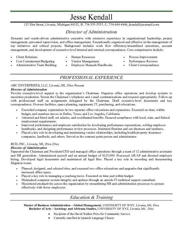 Download Administrative Resume Samples | haadyaooverbayresort.com
