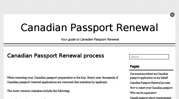 canadianpassportrenewal.org - Canadian Passport Renewal proc ...