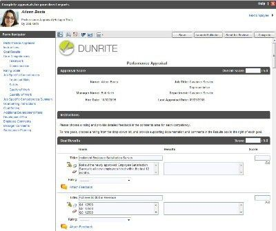 Amazing Creating Effective Employee Evaluation Forms In Halogen .