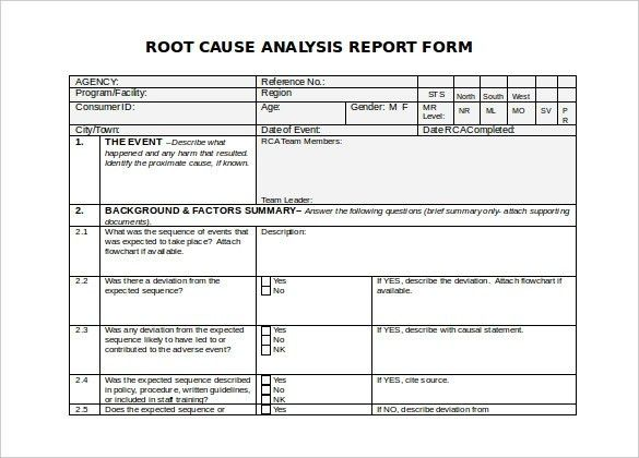 Root Cause Analysis Template | ebook